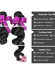 billige -Peruviansk hår Bølget Menneskehår, Bølget / Udvidelse / Bundle Hair 6 Bundler 8-28 inch Menneskehår Vævninger Maskinproduceret Klassisk / Bedste kvalitet / Sikkerhed Naturlig Naturlig Farve