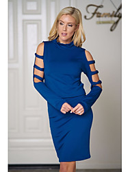 cheap -Women's Skinny Sheath Dress Turtleneck / Summer / Fall