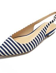 Недорогие -Жен. Обувь Хлопок Весна лето Удобная обувь / Босоножки На плокой подошве На плоской подошве Заостренный носок Черный / Синий
