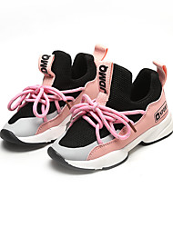 cheap -Boys' / Girls' Shoes Elastic Fabric Spring & Summer / Fall & Winter Comfort Athletic Shoes Running Shoes / Walking Shoes Lace-up / Split Joint for Kids / Baby White / Black / Pink