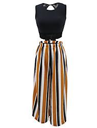 cheap -Women's Bikini - Solid Colored / Striped High Waist