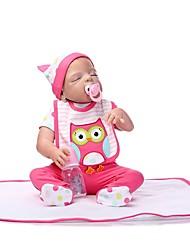 Недорогие -NPKCOLLECTION Куклы реборн Девочки 24 дюймовый Полный силикон для тела Винил - как живой Детские Девочки Игрушки Подарок
