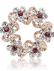 cheap -Women's Stylish Brooches - Flower Sweet, Fashion Brooch Purple For Date / Office & Career