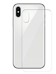Недорогие -AppleScreen ProtectoriPhone X Уровень защиты 9H Защитная пленка для задней панели 1 ед. Закаленное стекло