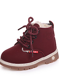 cheap -Girls' Shoes PU(Polyurethane) Fall & Winter Comfort / Fashion Boots Boots Walking Shoes for Teenager Black / Brown / Burgundy / Booties / Ankle Boots