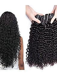 cheap -3 Bundles Malaysian Hair Curly Human Hair Natural Color Hair Weaves / One Pack Solution / Human Hair Extensions 8-28 inch Human Hair Weaves Best Quality / New Arrival / Hot Sale Natural Color Human