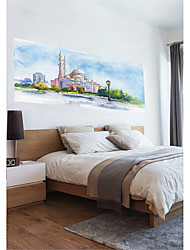 economico -Adesivi decorativi da parete - Adesivi 3D da parete Paesaggi / Religioso e spirituale Camera da letto / Camera dei bambini