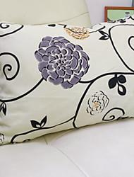 baratos -1 pçs Algodão / Linho Monograma, Floral Flor