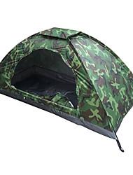 baratos -1 Pessoa Barracas de Acampar Leves Única Camada Poste Barraca de acampamento Ao ar livre Leve, Resistente aos raios UV, SPF35 para Pesca / Campismo / Escursão / Espeleologismo 1500-2000 mm Tecido
