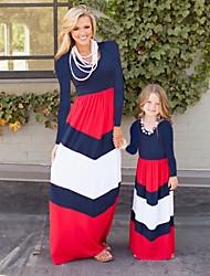 economico -Bambino / Bambino (1-4 anni) Mamma e io Fantasia floreale / Monocolore Manica lunga Salopette e tuta