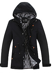 cheap -Men's Coat - Solid Colored, Patchwork