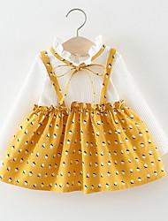 economico -Bambino Da ragazza A pois / Collage Manica lunga Vestito