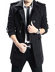 cheap -Men's Long Trench Coat - Contemporary / Long Sleeve