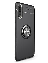 Недорогие -Кейс для Назначение Huawei P20 / P20 lite со стендом / Кольца-держатели / Магнитный Кейс на заднюю панель Однотонный Мягкий ТПУ для Huawei P20 / Huawei P20 lite / P10 Plus / P10 Lite