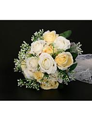 preiswerte -Hochzeitsblumen Sträuße / Dekorationen Hochzeit / Hochzeitsfeier Spitze / Polyester / Blütenknospe 11-20 cm