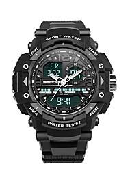 baratos -SANDA Homens Relógio Esportivo / Relogio digital Japanês Calendário / Impermeável / Cronômetro Plastic Banda Luxo / Fashion Preta