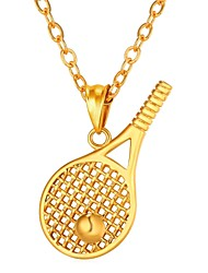 cheap -Men's Hollow Out Pendant Necklace - Stainless Steel Creative Trendy, Fashion Gold, Silver 55 cm Necklace 1pc For Gift, Daily