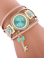 cheap -Women's Bracelet Watch Quartz Casual Watch Imitation Diamond PU Band Analog Casual Fashion Black / White / Blue - Brown Red Blue One Year Battery Life