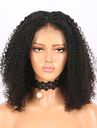 cheap -Remy Human Hair Lace Front Wig Wig Brazilian Hair Jerry Curl Bob Haircut 130% Density With Baby Hair / Natural Hairline / African American Wig Natural Women's Short Human Hair Lace Wig