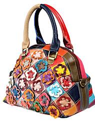 preiswerte -Damen Taschen Leder Umhängetasche Applikationen Regenbogen