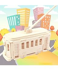Недорогие -Деревянные пазлы / Пазлы и логические игры Двухэтажный автобус Для школы / профессиональный уровень / Стресс и тревога помощи деревянный 1 pcs Детские / Подростки Все Подарок