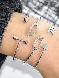 abordables -Femme Le style rétro Manchettes Bracelets - Goutte, Créatif simple, Branché, Mode Bracelet Or / Argent Pour Quotidien / Vacances / 3pcs