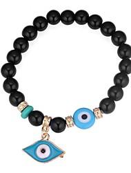 baratos -Mulheres Clássico Pulseiras Strand - Olhos Vintage, Étnico, Fashion Pulseiras Preto / Vermelho / Azul Para Para Noite Aniversário