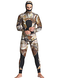 cheap -MYLEDI Men's Full Wetsuit 5mm Neoprene Diving Suit Thermal / Warm Long Sleeve - Swimming / Diving / Surfing Floral / Botanical /