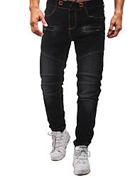 baratos -Homens Moda de Rua / Punk & Góticas Jeans Calças - Sólido