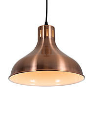 cheap -Modern Electroplated Red Bronzer Pendant Lights 1 Light Metal Shade Living Room Dining Room Use 1 E26/E27 Bulbs