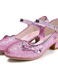 cheap -Girls' Shoes PU(Polyurethane) Spring &  Fall Flower Girl Shoes Heels Bowknot / Sequin for Kids Silver / Blue / Pink