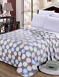 Недорогие -Коралловый флис / Супер мягкий, Активный краситель Геометрический принт Хлопок / полиэфир одеяла