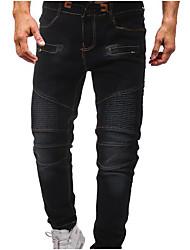 abordables -Hombre Básico Tallas Grandes Vaqueros Pantalones - Un Color