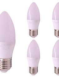 Недорогие -5 шт. 3 W 260 lm E26 / E27 LED лампы в форме свечи T 6 Светодиодные бусины SMD 2835 Тёплый белый / Холодный белый 12-24 V