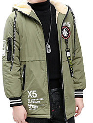 cheap -Kids Boys' Print Long Sleeve Trench Coat