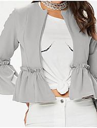 お買い得  -女性用 ジャケット - ストリートファッション ソリッド