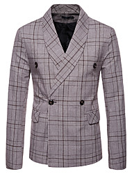 cheap -Men's Business Vintage Blazer-Plaid