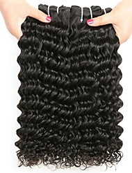 cheap -Malaysian Hair Deep Wave Gifts / Natural Color Hair Weaves / Tea Party Favors 4 Bundles 8-28 inch Human Hair Weaves Creative / Hot Sale / Thick Natural Color Human Hair Extensions Women's