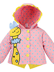 cheap -Baby Girls' Solid Colored / Print Long Sleeve Trench Coat