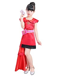 cheap -Princess Outfits Girls' Halloween / Carnival / Children's Day Festival / Holiday Halloween Costumes Fuchsia Solid Colored / Halloween Halloween