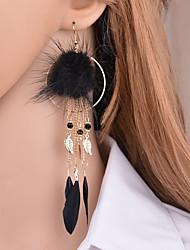 cheap -Women's Long Drop Earrings - European, Trendy, Hyperbole Black / Gray / Red For Masquerade / Holiday