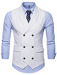 cheap -Men's Business Basic Vest-Polka Dot