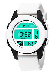 Недорогие -SYNOKE Муж. / Жен. Спортивные часы / электронные часы Календарь / Секундомер / Защита от влаги PU Группа На каждый день / Мода Белый / Синий / Коричневый