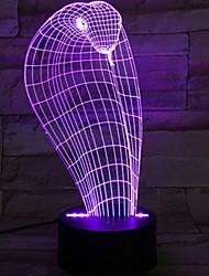 abordables -1pc Luz nocturna 3D Nuevo diseño / Creativo / Regalo romántico <5 V