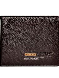 baratos -sacos masculinos carteira de couro napa marrom maciço