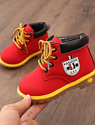 cheap -Girls' Shoes PU(Polyurethane) Fall & Winter Comfort / Fashion Boots Boots Walking Shoes for Kids Gray / Yellow / Red / Booties / Ankle Boots