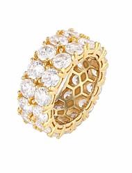 preiswerte -Herrn Kubikzirkonia Stilvoll Ring - Kostbar Stilvoll, Luxus, Europäisch 8 / 9 / 10 / 11 Gold / Silber Für Geschenk Strasse