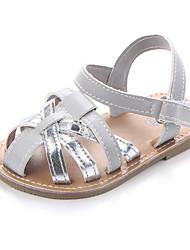 abordables -Fille Chaussures Polyuréthane Eté Premières Chaussures Sandales Scotch Magique pour Bébé Or / Argent