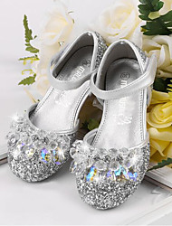cheap -Girls' Shoes PU(Polyurethane) Spring & Summer Flower Girl Shoes Heels Rhinestone / Crystal for Kids Silver / Pink / Royal Blue