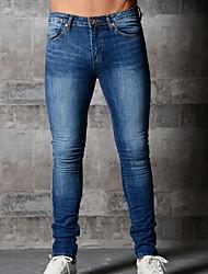 economico -Per uomo Cotone Taglia piccola Jeans Pantaloni - Tinta unita